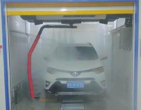 青海西宁S-19风干型洗车机安装调试完成!