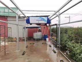 赵县客户安装上意全自动洗车机S-19成功