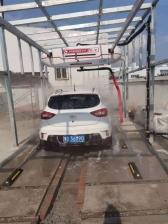 河南鲁山县  中国石化 -第十站 上意S-18智能快洗型洗车机安装调试完成