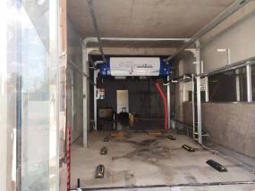 山西河曲县邬总定购的上意T-12洗护一体型洗车机安装调试完成!